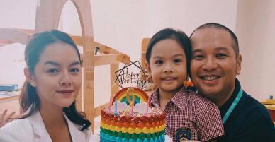 Phạm Quỳnh Anh và Quang Huy tái hợp nhờ ngày sinh nhật của con gái nhỏ