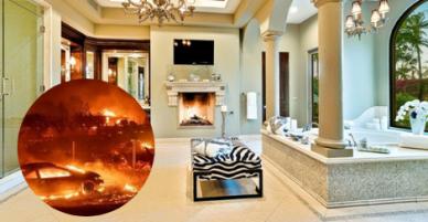 Vụ cháy rừng ở California: Nhà Kim Kardashian cháy lớn kéo theo nhiều biệt thự sao Hollywood thành tro bụi.