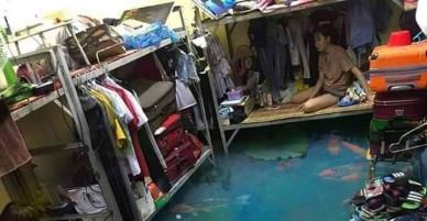 Phòng bị ngập, các cô gái lạc quan nhờ cư dân mạng chỉnh ảnh và cái kết không ngờ