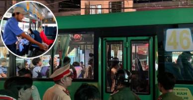 Xe buýt va chạm với xe người dân: phụ xe buýt vác dao rượt người dân chạy trong hoảng loạn.